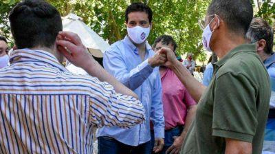Elecciones en la UCR: Abad visitó Lezama y reunió intendentes de la Quinta