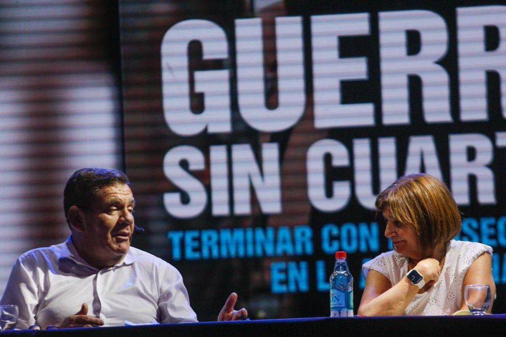 Montenegro acompañó a Bullrich en la presentación de su libro