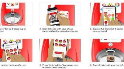 Coca-Cola implanta una tecnología que se activa desde el móvil y sin contacto en las máquinas Freestyle