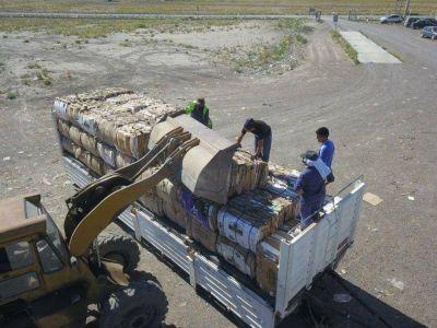 Más de 20.000 kilos de cartón partieron desde Viedma para su reciclado