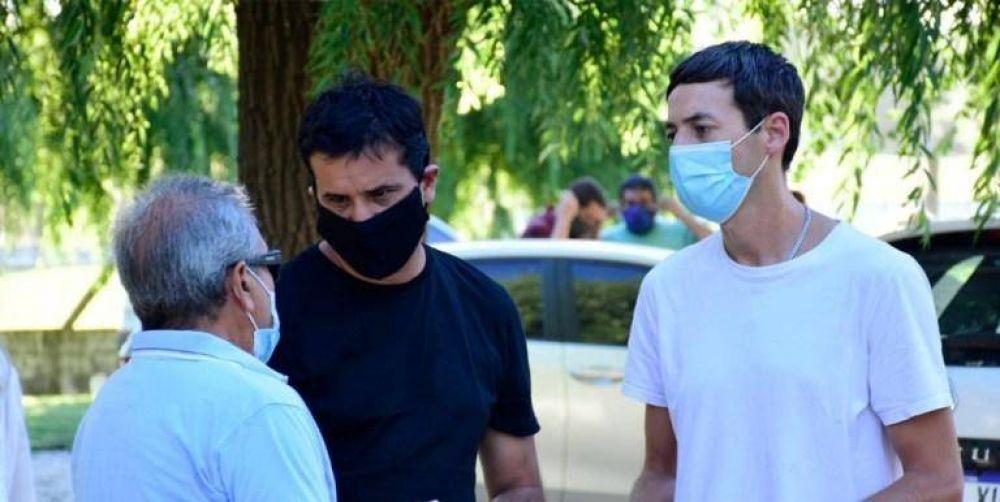 Maxi Abad visitó Lezama y recibió el apoyo de intendentes de cara a las internas de la UCR