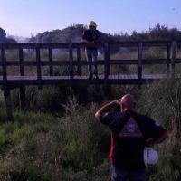 El Municipio colaboró para sofocar un incendio en la Reserva del Puerto