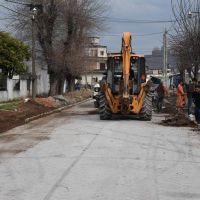 Merlo: obras de pavimentación en Parque San Martín