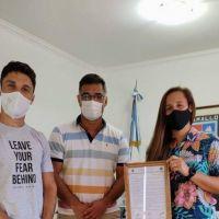 El intendente recibió a la campeona Laurina Oliveros