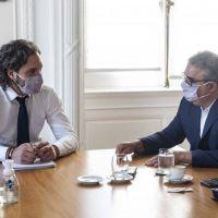 Jalil en Buenos Aires se reunió con Cafiero en la previa del viaje a Chile con Alberto Fernández