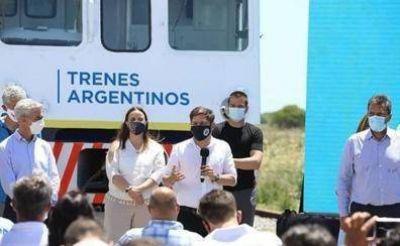 La Unión Ferroviaria acompañó la puesta en funcionamiento del servicio de tren que unirá Gral Guido y Pinamar