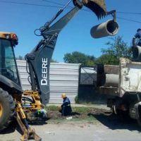 Tigre construye nuevos desagües pluviales en Benavídez