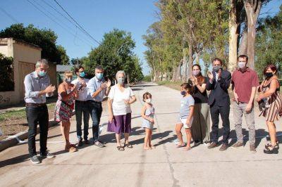 Zabaleta y Katopodis inauguraron obras de pavimentación en Hurlingham