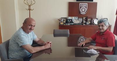 Encuentro entre Nicolás Russo y Víctor de Gennaro