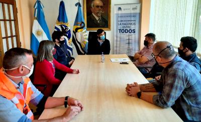 Autoridades de Vialidad Provincial se reunieron el intendente de Perito Moreno