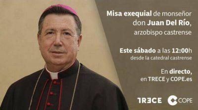 TRECE emite el funeral por el arzobispo castrense Mons. Juan del Río