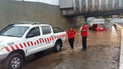Fuerte tormenta en Córdoba capital: desbordes, inundaciones y caídas de árboles