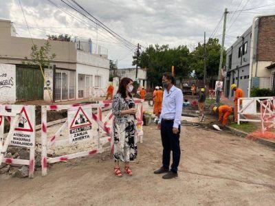 Katopodis y Mariel Fernández supervisaron obras del Plan «Argentina Hace» en Moreno
