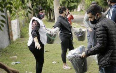 Temporal en Quilmes: Municipio acercó viandas y kits de limpieza a las familias perjudicadas