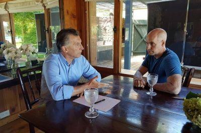 Larreta y Macri: encuentro en el country del sur