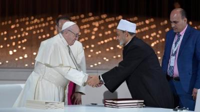 Encuentro de Fraternidad Humana: El Papa y el imán de Al-Azhar, juntos