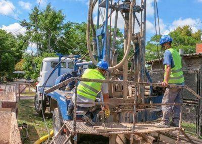 Avanza la construcción de nuevos pozos de agua en Berazategui