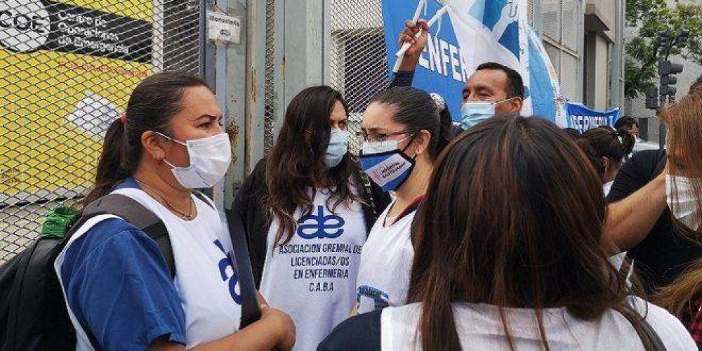 """Nuevo reclamo para que Larreta reconozca a la enfermería: """"Nos tiene que pagar lo que corresponde"""""""
