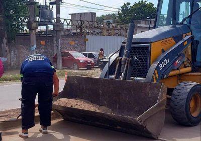 Merlo: reconstrucción y repavimentación en San Antonio de Padua