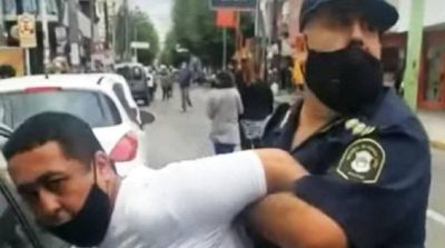 Un detenido en La Matanza, a cuadras de un acto de Axel Kicillof y Fernando Espinoza