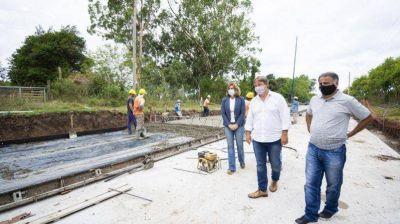 Cascallares y Depetri supervisaron la pavimentación de la Avenida República Argentina