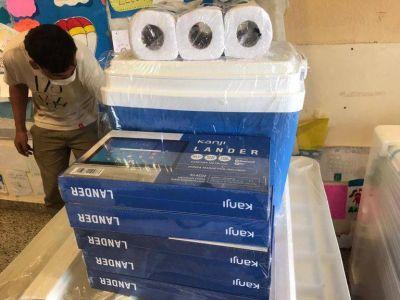 Las escuelas de Berazategui se preparan para la vacunación