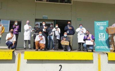 Dona Femsa al IMSS Guanajuato apoyos para atender covid-19