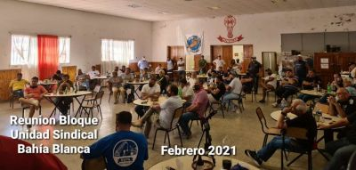 Bahía Blanca, El bloque de unidad sindical//quienes integran sus secretarias para fortalecer aún más la conducción