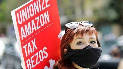 EEUU: Trabajadores de Amazon a un paso de conformar su primer sindicato