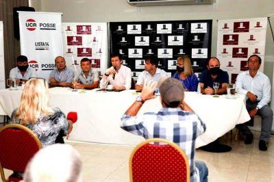 De cara a la interna radical, Posse visitó 9 de Julio, Bragado, Alberti y Chivilcoy