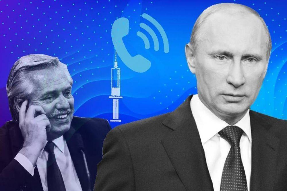 Solo en off: el cálido llamado de Vladimir Putin a Alberto Fernández