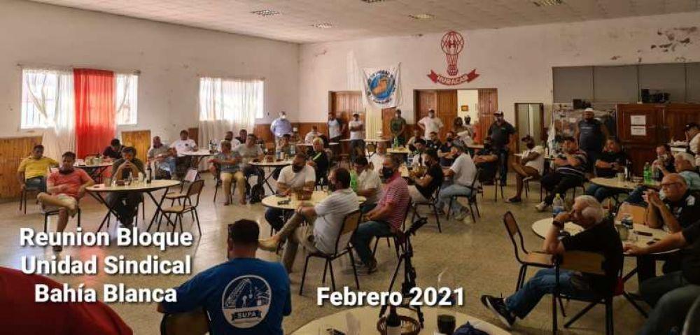 Bahía Blanca, El bloque de unidad sindical // quienes integran sus secretarias para fortalecer aún más la conducción