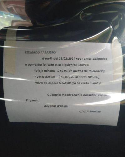 Desde este lunes viajar en remís es más caro en La Plata