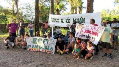 Ambientalistas limpiaron la ribera del Río Luján y reclamaron mayor concientización