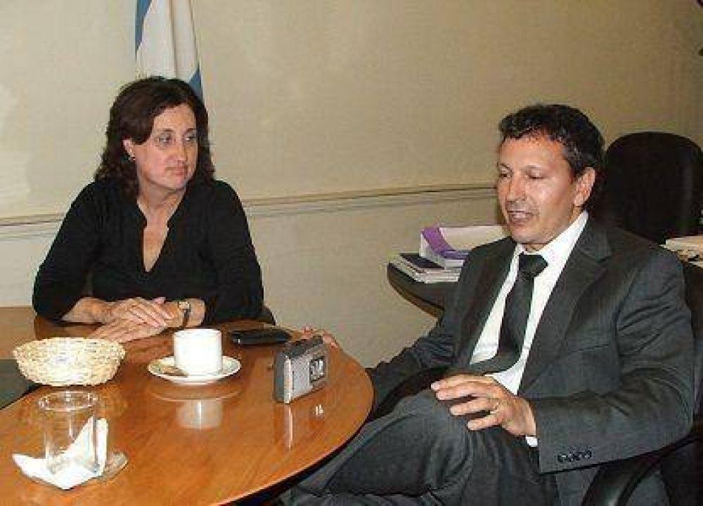 El interventor nacional del PAMI visitó Luján y se reunió con la intendenta