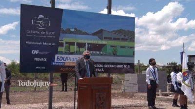 Gerardo Morales inauguró el inicio de las obras del nuevo Secundario 5