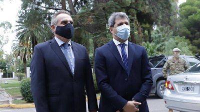 Uñac recibió al ministro de Defensa de la Nación Agustín Rossi