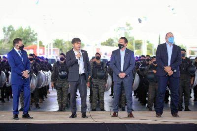 Entregaron 30 patrulleros y 10 motos para reforzar la seguridad en Varela
