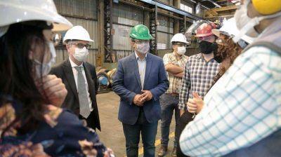 Cascallares y Schale recorrieron el Parque Industrial Almirante Brown con foco en la producción