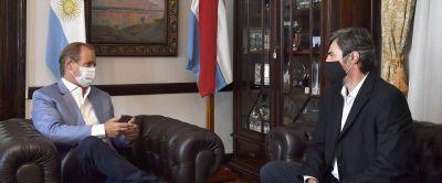 Bordet conversó sobre la agenda legislativa con Giano