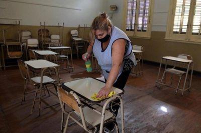 Diez contagiados en las escuelas porteñas