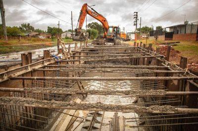 Obra pluvial: Ya se completó el 80% del colector Iriarte en la Ribera de Quilmes