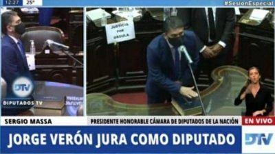 Juró Jorge Verón como diputado nacional por Santa Cruz, en reemplazo de Pablo Gónzalez
