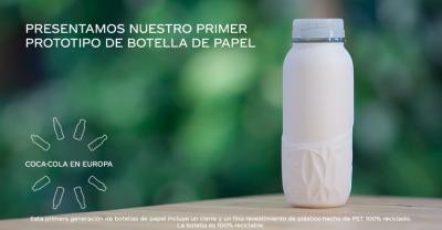 Coca-Cola lanza su primer prototipo de botella de papel