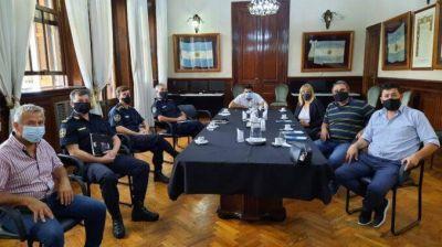 Reunión del Instituto de Formación y Promoción del Comercio con autoridades del Ministerio de Seguridad de la provincia