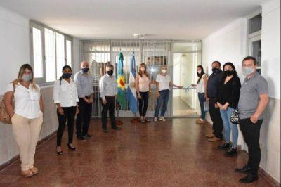 Con una inversión de $1.470.000, Britos inauguró obras en una escuela de Moquehuá