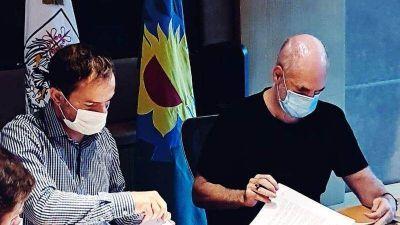 Abella firmó con Larreta importantes convenios sobre educación