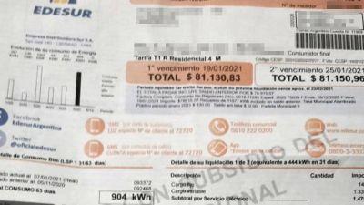 """Continúan los reclamos por el """"consumo no registrado"""" de Edesur"""