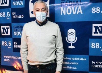 Cagliardi abordó dos temas centrales: Plan de vacunación y desabastecimiento de agua