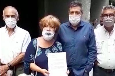 Alberto Rodríguez Saá y Sergio Berni se presentan en el PJ y desafían la lista de Fernández